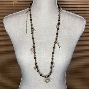 WHBM beaded charm necklace